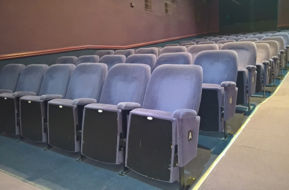 Seating in our 99 seater auditorium
